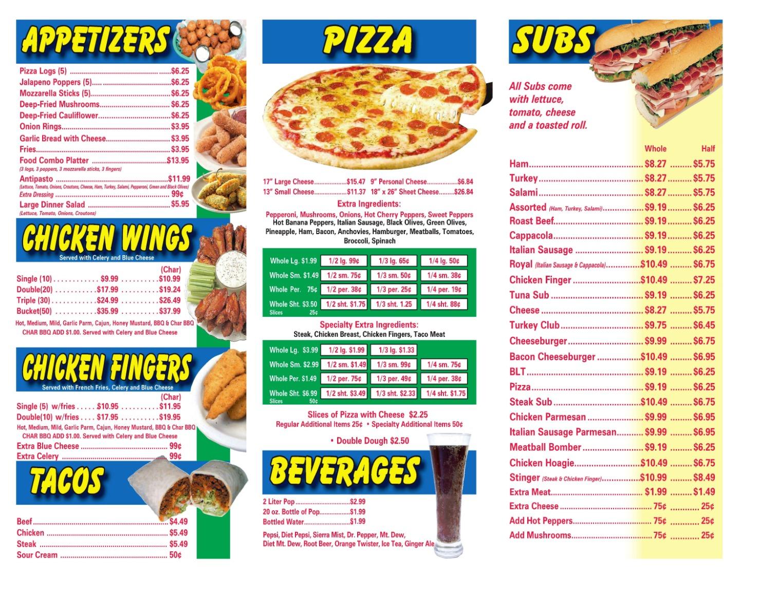 ton menu 1